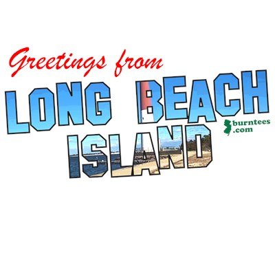 Greetings from LBI NJ Shore t-shirt from BurnTees.com