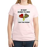 My Heart belongs to a Hero Women's Light T-Shirt