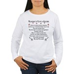 10 Reasons to love a soldier Women's Long Sleeve T