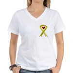 Keep My Grandson Safe Ribbon OIF Women's V-Neck T-