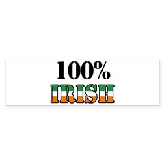 100 Percent Irish T-Shirts Sticker (Bumper)