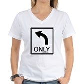 Left Only Women's V-Neck T-Shirt