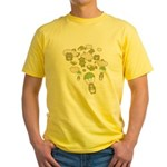 Skydiving Hamsters Yellow T-Shirt