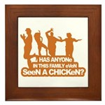 Chicken Dance Framed Tile