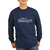 I Believe in Obamagic Long Sleeve Dark T-Shirt