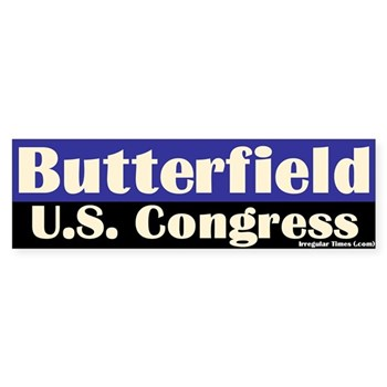 Re-Elect Butterfield to Congress bumper sticker