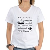 In 1492... on the Wet Dream 2 Women's V-Neck Tee