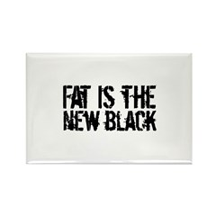 Fat Is The New Black Funny T-Shirts & Gifts Rectangle Magnet