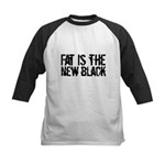Fat Is The New Black Funny T-Shirts & Gifts Kids Baseball Jersey