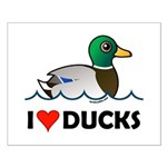 Birdorable I Love Ducks Small Poster