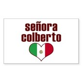 Senora Colberto Rectangle Sticker