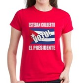 Voto! Esteban Colberto Women's Dark T-Shirt
