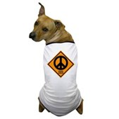 Peace Ahead Dog T-Shirt