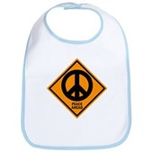 Peace Ahead Bib