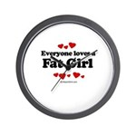 Everyone loves a Fat girl Wall Clock