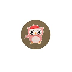Le Pink Owl Mini Button