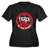 Peace is the word Women's Plus Size V-Neck T-Shirt
