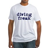 Diving Freak Fitted T-Shirt