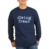 Diving Freak Long Sleeve Dark T-Shirt