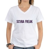 Scuba Freak Women's V-Neck T-Shirt