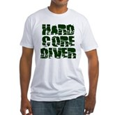 Hard Core Diver Fitted T-Shirt