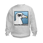 Save the Albatross (close-up) Kids Sweatshirt