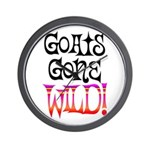 Goats Gone WILD Wall Clock