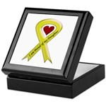I Am Proud Of My Daughter Yellow Ribbon Tile Box