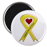 Support Our Air Force Yellow Ribbon Magnet