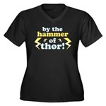 By the Hammer of Thor Women's Plus Size V-Neck Dar