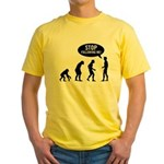 Evolution is following me Yellow T-Shirt