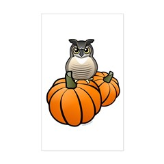 Birdorable GHOW Pumpkins Sticker (Rectangle)