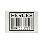 Heroes Priceless Support Our Troops Rectangle Magn