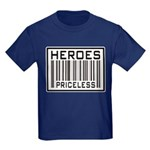 Heroes Priceless Support Our Troops Kids Dark T-Sh