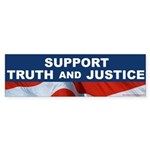 Support Truth and Justice Bumpersticker