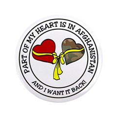 """Part of my Heart Afghanistan 3.5"""" Button"""