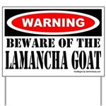 Beware LaMancha Goat Yard Sign