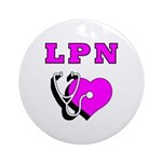 LPN Care Ornament (Round)