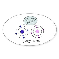 Carbon Dating Sticker (Oval)