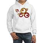 Retro Orange Circles Hooded Sweatshirt