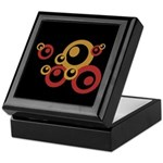 Retro Orange Circles Keepsake Box