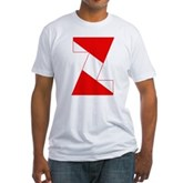 Scuba Flag Letter Z Fitted T-Shirt