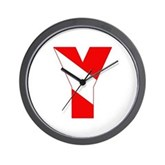 Scuba Flag Letter Y Wall Clock
