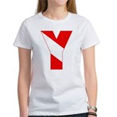 Scuba Flag Letter Y Women's T-Shirt