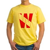 Scuba Flag Letter W Yellow T-Shirt