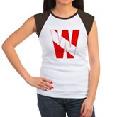 Scuba Flag Letter W Women's Cap Sleeve T-Shirt
