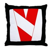 Scuba Flag Letter V Throw Pillow