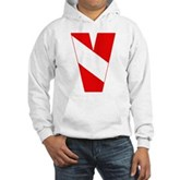 Scuba Flag Letter V Hooded Sweatshirt