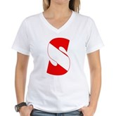 Scuba Flag Letter S Women's V-Neck T-Shirt
