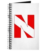 Scuba Flag Letter N Journal